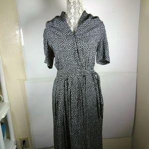 VTG Karin Stevens Prarie Floral Midi Dress SZ 12